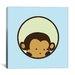 iCanvas Kids Children Monkey Face Canvas Wall Art