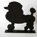 """DEI Unleashed """"Poodle"""" Dog Silhouette Table 1' 2"""" x 1' 2.5"""" Chalkboard"""