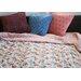 Timbergirl Handblocked Cotton Throw Pillow