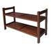 ORE Furniture 2 Tier Stackable Shoe Rack