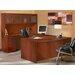 Mayline Group Aberdeen Series U-Shape Executive Desk with Hutch