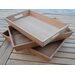 Arbora Teak Rectangular 3 Piece Serving Tray Set