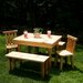 Moon Valley Rustic Nicholas Kids' Table and Chair Set