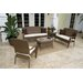 Hospitality Rattan Grenada Patio 5 Piece Lounge Seating Group