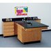 Diversified Woodcrafts Perimeter Workstation With 4 Drawers, Sink and Fixtures