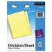 Avery Consumer Products Untabbed Sheet Dividers (25/Pack)