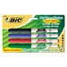 Bic Corporation Great Erase Grip Dry Erase Fine Point Markers (4 Pack)