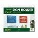 Nudell Plastics Horizontal Wall Sign Holder, Acrylic, 11 x 8-1/2