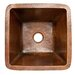 Premier Copper Products Square Hammered Copper Bathroom Sink
