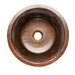 "Premier Copper Products 16"" x 16"" Round Copper Bar Sink"