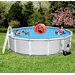 """Blue Wave Products Round 52"""" Deep 8"""" Top Rail Samoan Metal Wall Swimming Pool Package"""
