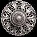 Roman Silver with Clear Swarovski Crystal