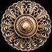 Florentine Bronze with Clear Swarovski Crystal