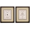 Propac Images Phillipe Savoy 2 Piece Framed Graphic Art Set
