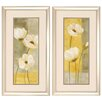 Propac Images White Poppies 2 Piece Framed Painting Print Set