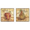 PTM Images Kitchen Fruit Framed Canvas Art (Set of 2)