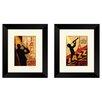 PTM Images Vintage 1962 Jazz in New York 2 Piece Framed Graphic Art Set