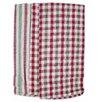 Textiles Plus Inc. 4 Piece Plain Weave Checker / Striped Kitchen Towel Set