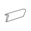 "Daltile Brancacci 6"" x 2"" Counter Rail Tile Trim in Aria Ivory"