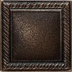 "Daltile Ion Metals 2"" x 2"" Decorative Rope Accent Tile in Antique Bronze"