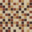 "Daltile Isis 1"" x 1"" Ceramic Mosaic Tile in Amber Blend"
