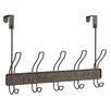 InterDesign Over The Door 5 Hook Towel Rack