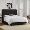 Skyline Furniture Velvet Upholstered Wingback Panel Bed