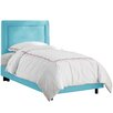 Skyline Furniture Border Premier Microsuede Upholstered Panel Bed