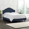 Skyline Furniture Nail Button Linen Panel Bed