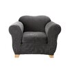 Sure-Fit Stretch Pinstripe Chair Slipcover