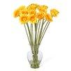 Nearly Natural Liquid Illusion Silk Gerber Daisy Arrangement in Yellow