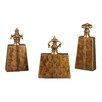 Sterling Industries 3 Piece Chestnut Curtain Finial Set