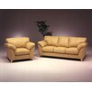 Omnia Furniture Nevada 3 Seat Leather Living Room Set