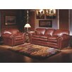 Omnia Furniture Torre 3 Seat Leather Living Room Set
