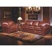 Omnia Furniture Torre 3 Seat Leather Living Room Set