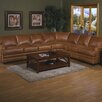 Omnia Furniture Pantera Leather Right Facing Sectional