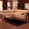 Omnia Furniture Riviera Leather Reclining Sectional