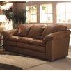 Omnia Furniture Oregon Leather Loveseat