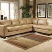 Omnia Furniture City Sleek Leather Sectional