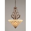 Toltec Lighting Swan 1 Light Inverted Pendant