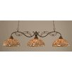 Toltec Lighting Jazz 3 Light Kitchen Island Pendant