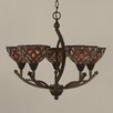 Toltec Lighting Bow 5 Light Chandelier
