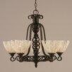 Toltec Lighting Elegante 5 Light Chandelier