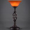 """Toltec Lighting Elegante 20"""" H Table Lamp with Bell Shade"""