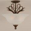 Toltec Lighting Swan 3 Light Semi Flush Mount
