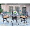 Meadow Decor Kingston 3 Piece Counter Height Dining Set