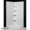 "DreamLine SlimLine 42"" by 42"" Neo Shower Receptor and QWALL-2 Shower Backwall Kit"