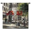 Fine Art Tapestries Classical Corner Café by Brent Heighton Tapestry