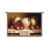Fine Art Tapestries Classical Urns with Pomegranates Small by Loran Speck Tapestry