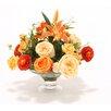 Distinctive Designs Roses Ranunculus Liliesin Glass Compote